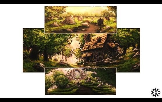 Environment Concepts for a proposed game Photoshop