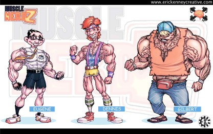Commissioned character concepts for company branding and promotions